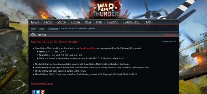 War thunder br range