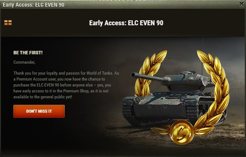 WoT – ELC EVEN 90 Early Access – The Armored Patrol