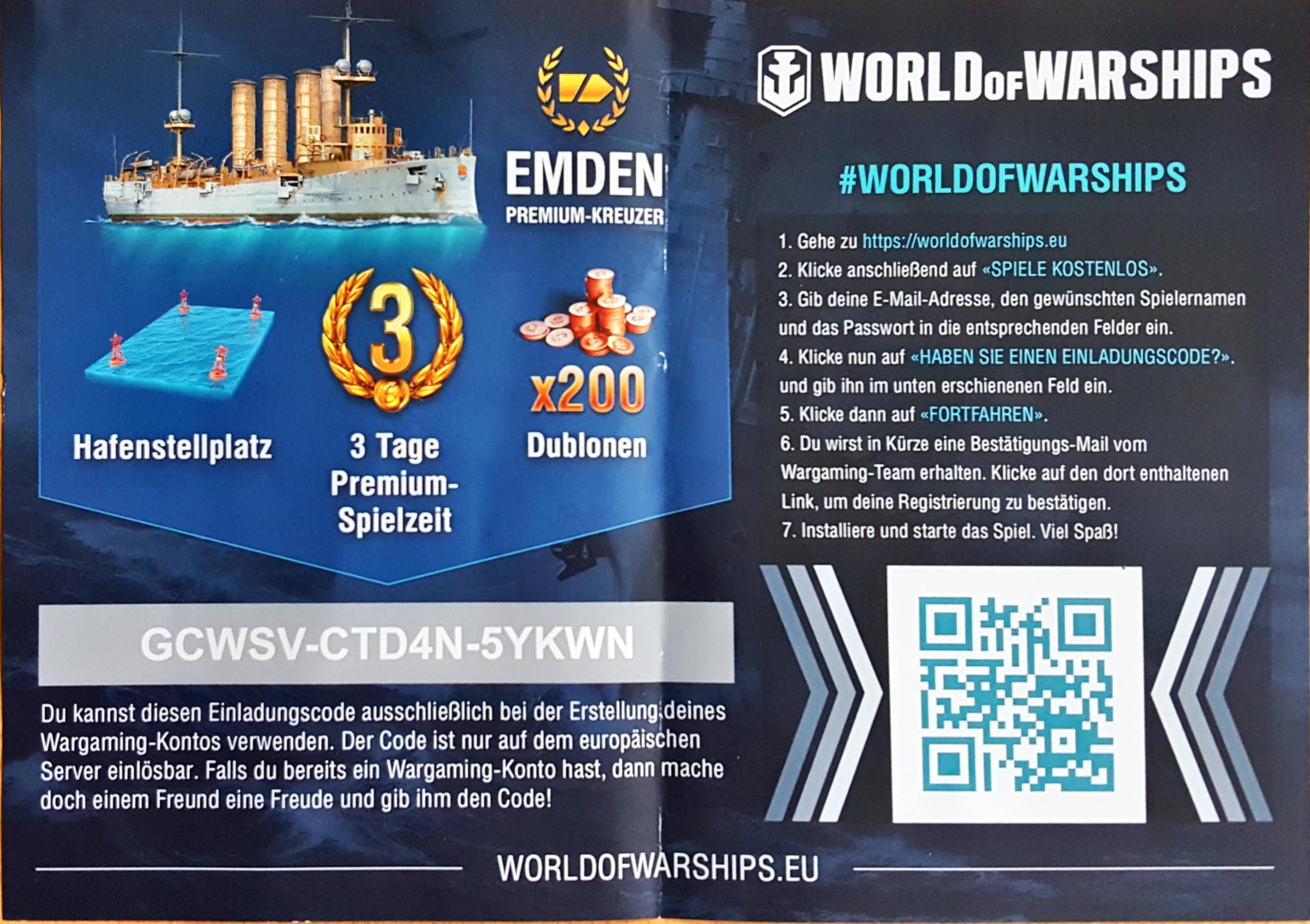 WoWS Gamescom Invite Codes – The Armored Patrol