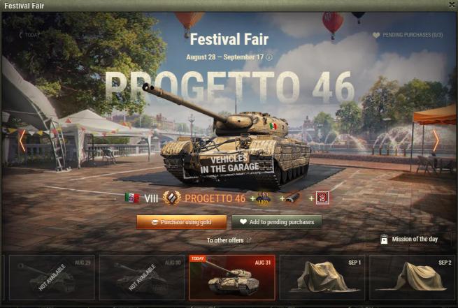 World of Tanks Festival Fair Day 4 – Progetto 46 (EU